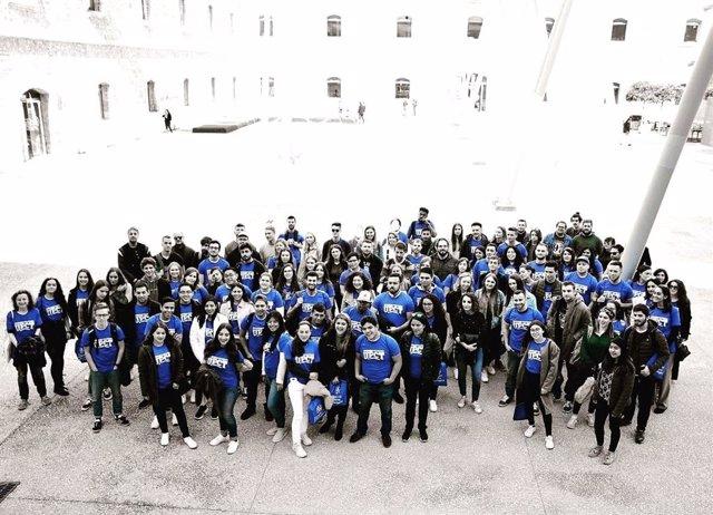 En la imagen, los estudiantes italianos durante el último Welcome Day celebrado en la UPCT