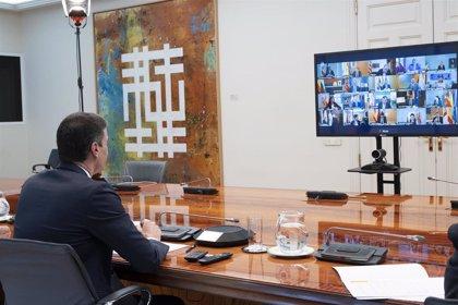 Termina, tras tres horas y media, la videoconferencia de Sánchez con los presidentes autonómicos