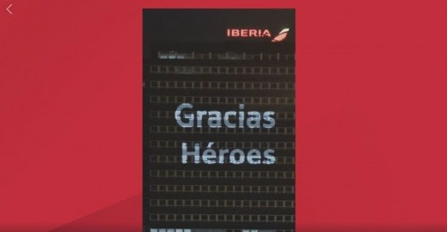 Iniciativa de Iberia en honor de los héroes del Covid-19