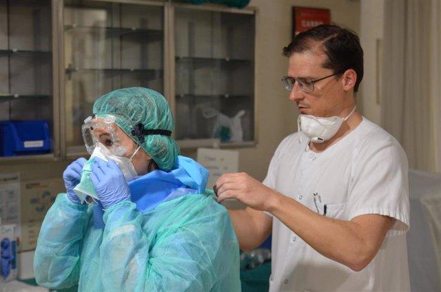 Profesionales del Hospital Reina Sofía