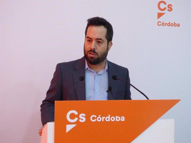 El portavoz adjunto de Ciudadanos en el Parlamento de Andalucía, Fran Carrillo.