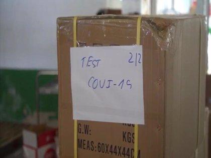 Extremadura recibe del Gobierno central 21.600 test rápidos y 46.600 mascarillas para afrontar el coronavirus