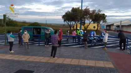 Interceptada en Huelva una furgoneta con 13 ocupantes que ya habían sido avisados por no respetar el confinamiento