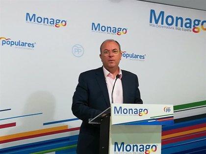 """Monago defiende que el estado de alarma por el Covid-19 """"no puede ser una mordaza"""" para la oposición"""