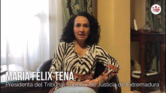 María Félix Tena, presidenta del TSJEx