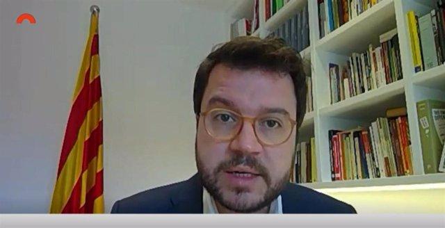 Comparecencia telemática del vicepresidente de la Generalitat, Pere Aragonès, en comisión del Parlament el 6 de abril de 2020, sobre el coronavirus