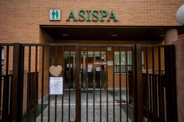 Entrada a la Residencia de Mayores Asispa - Las Azaleas, en Madrid