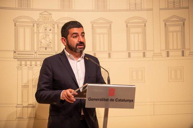 El conseller de Treball, Assumptes Socials i Famílies de la Generalitat, Chakir l'Homrani (Catalunya, Espanya), a 18 de desembre de 2019 (arxiu).