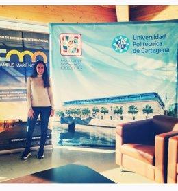 Valentina Coletta, una de las estudiantes que se marchan a Italia desde Cartagena
