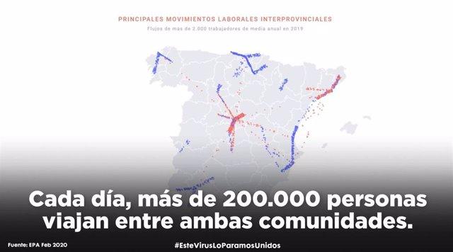 Mapa desplazamientos PSOE Castilla-La Mancha
