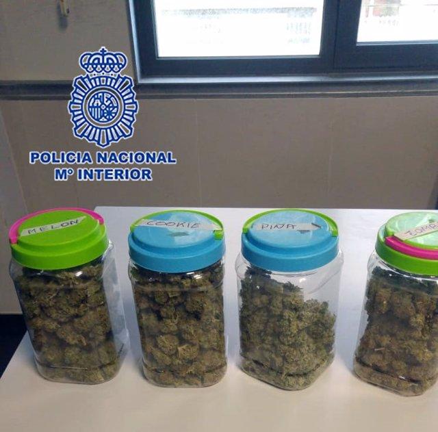 La Policía Nacional desmantela la tercera asociación de cannabis desde que comenzó el estado de alarma