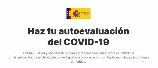 App oficial del Gobierno para el autodiagnóstico del Covid-19