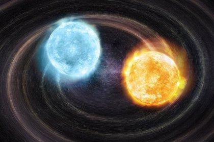 Una peculiar binaria, nueva fuente de ondas gravitacionales