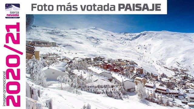 Foto más votada en la sección Paisaje del concurso emprendido por la estación de Sierra Nevada