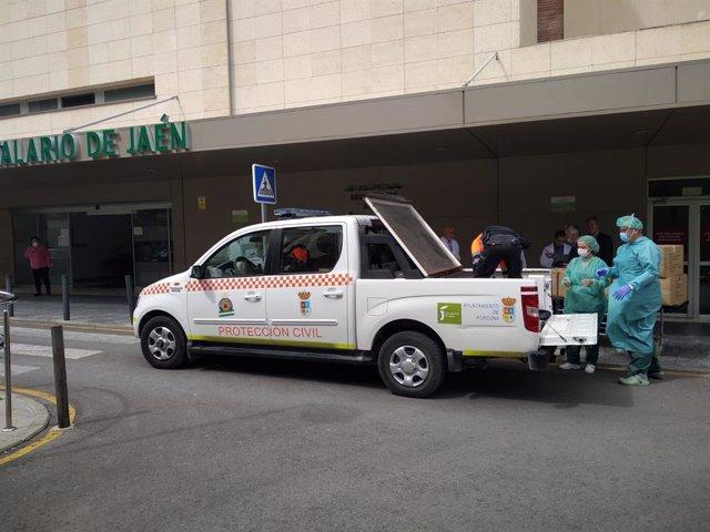 Acceso al Hospital de Jaén