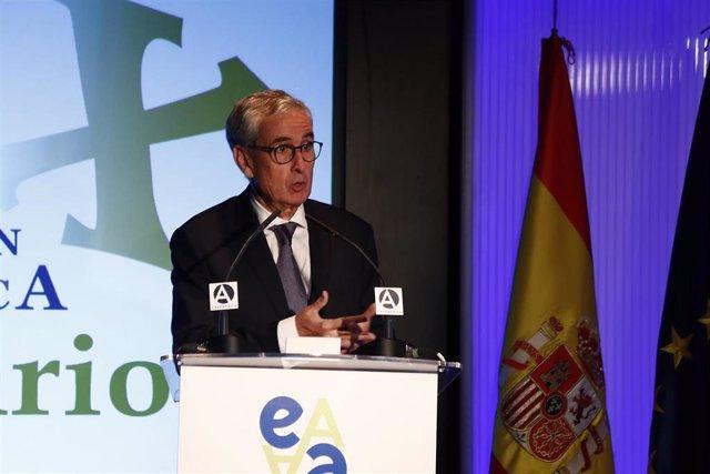 El presidente de la Fundación Euroamérica, Ramón Jáuregui Atondo