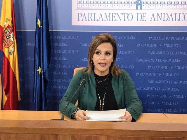 La parlamentaria onubense de Adelante Andalucía, María Gracia González