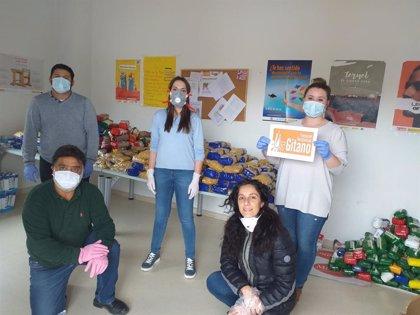 El Ayuntamiento de Teruel, Banco de Alimentos y Fundación Secretariado Gitano reparten comida a 44 familias vulnerables