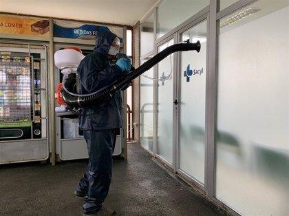 La Diputación de Ávila desinfecta el Hospital Nuestra Señora de Sonsoles