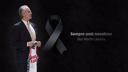 El Valencia Basket rinde homenaje a Martín Labarta con un minuto de silencio virtual