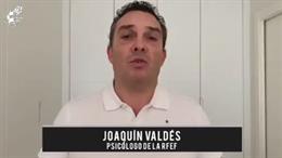 El psicólogo de la selección española, Joaquín Valdés