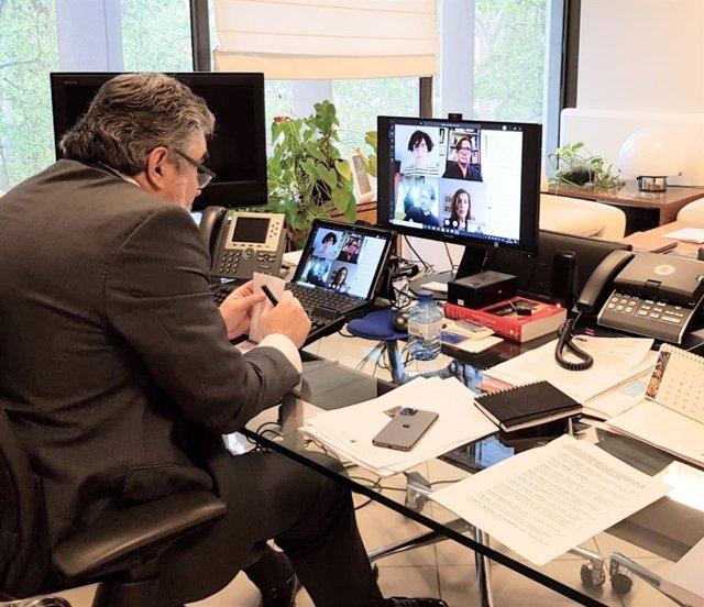 El ministro de Cultura, José Manuel Rodríguez Uribes, se reúne telemáticamente con representantes del sector