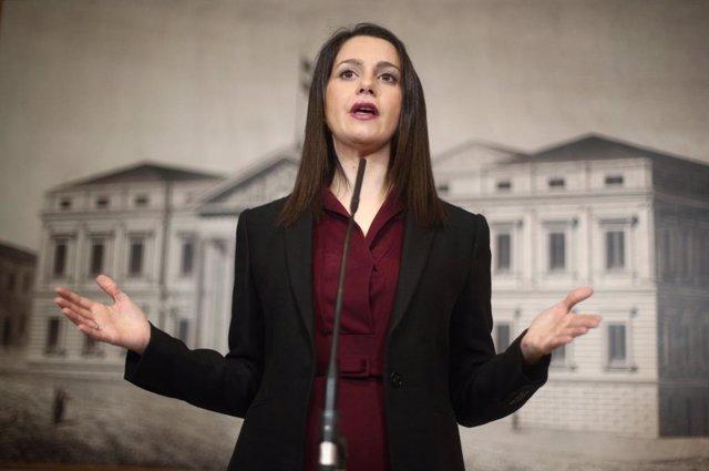 La presidenta de Cs i portaveu al Congrés dels Diputats, Inés Arrimadas.