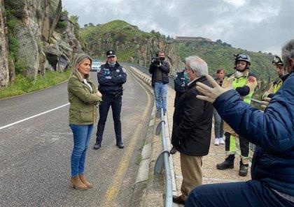 Cortada al tráfico por desprendimientos la carretera del Valle de Toledo