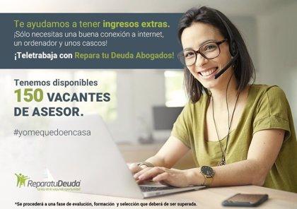 Repara tu Deuda, líderes en la ley de la segunda oportunidad oferta 150 puestos de trabajo a sus clientes
