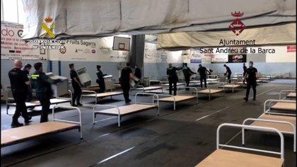 El Gobierno catalán descarta abrir el hospital montado por Guardia Civil en Sant Andreu de la Barca (Barcelona)
