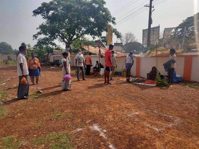 Atención de pacientes con lepra en India por la situación del coronavirus