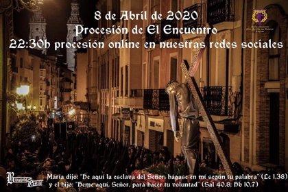 La Procesión del Encuentro de Logroño se podrá seguir online este Miércoles Santo sin Limpieza del Cristo