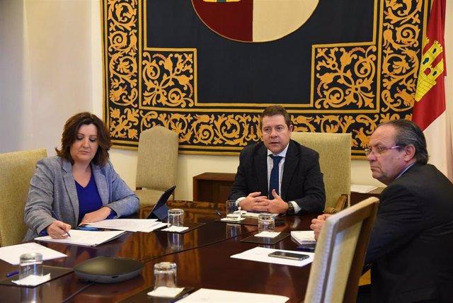 García-Page, reunido con Ruiz Molina y Franco