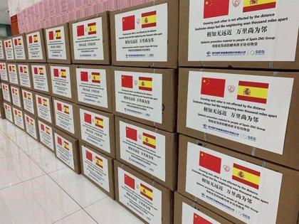 El grupo chino ZMJ dona 90.000 mascarillas y 10 respiradores al SCS