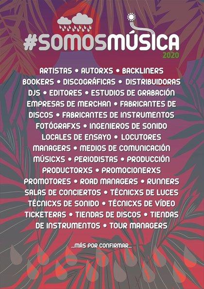 La industria musical lanza la campaña #SomosMúsica