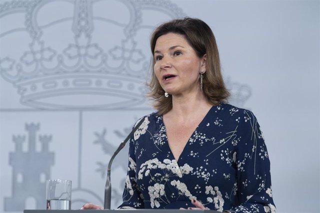 La secretaria general de Transportes y Movilidad, María José Rallo; interviene durante la rueda de prensa del Comité Técnico de Gestión de la crisis