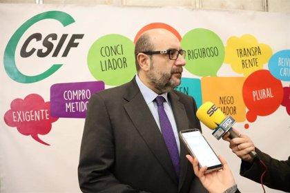CSIF pide que el contagio de funcionarios en el trabajo se considere accidente laboral a todos los efectos