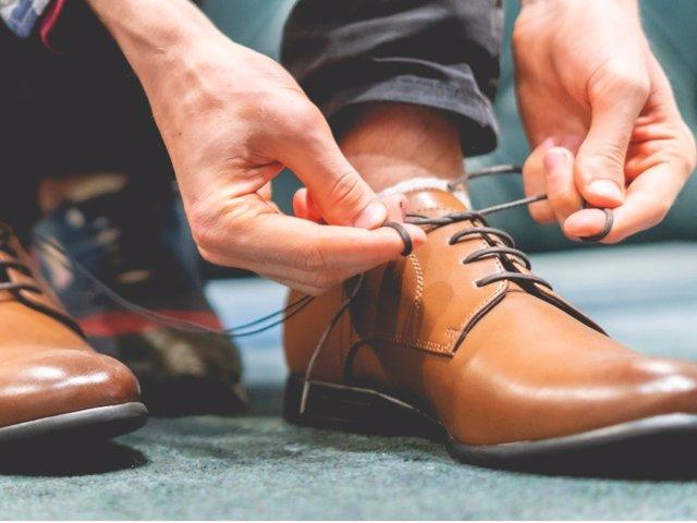 Cordones de zapatos, zapato