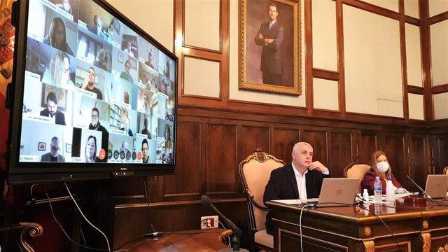 Pleno de la Diputación de Guadalajara celebrado de manera telemática