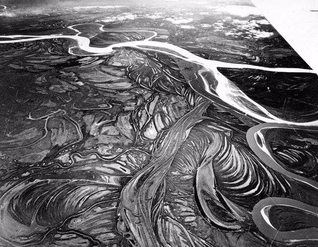 Cauce del río Yukón en una imagen de 1941
