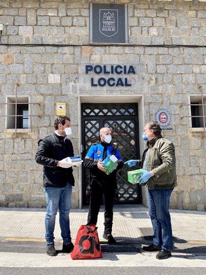 Diputación de Ávila dona mascarillas y guantes a la Policía Local