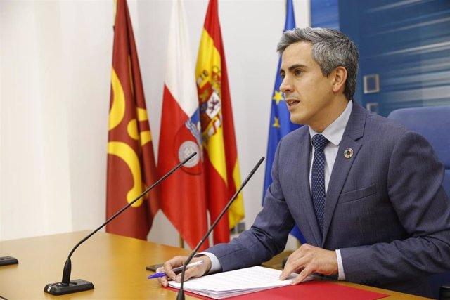 El vicepresidente, Pablo Zuloaga, en rueda de prensa tras la reunión del Consejo de Gobierno