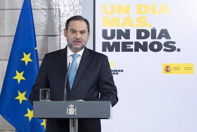 El ministro de Transportes, Movilidad y Agenda Urbana, José Luis Ábalos.