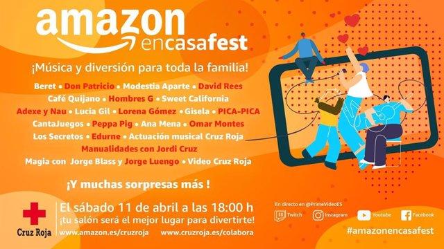 Festival de Amazon con Cruz Roja