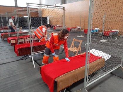 Granollers adapta un pabellón para personas sin techo para pasar el confinamiento