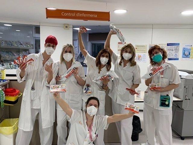 Donación de Ferrero Ibérica a un hospital durante el coronavirus