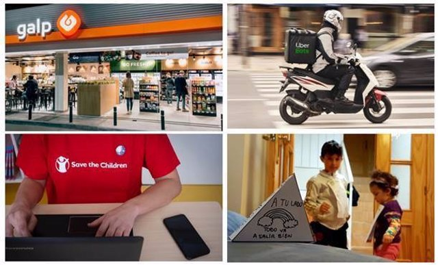 Uber Eats y Galp se unen a Save the Children para entregar alimentos a familias vulnerables