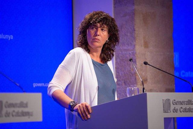 La consellera de Agricultura de la Generalitat, Teresa Jordà, ofrece una rueda de prensa tras el consejo ejecutivo (ARCHIVO)