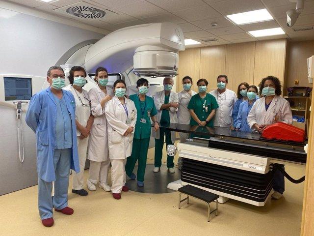Equipo profesionales de la Unidad de Oncología Radioterápica