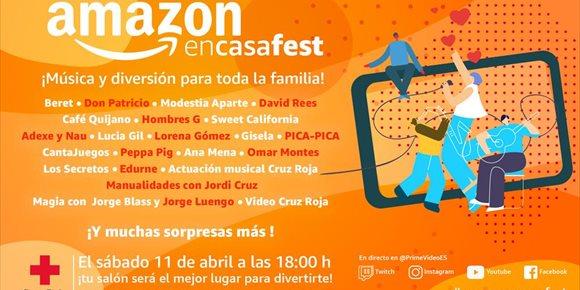 1. AmazonEnCasaFest, un festival para recaudar fondos para Cruz Roja